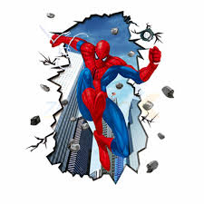 movie character spider man wall stickers home decoration for kids