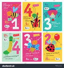 Birthday Invitation Card Kids Birthday Invitations Collection Posters Invitation Cards Stock