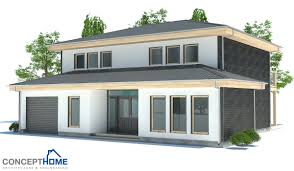 modern house plan with two floors