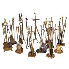old brass fireplace tools victorian regency traditional