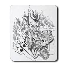 flaming gambling card tattoo real photo pictures images and