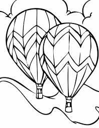 cartoon transportation coloring page for preschoolers air vehicles