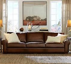 Chestnut Leather Sofa Leather Sofas Pottery Barn