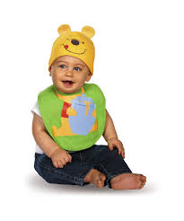 winnie the pooh bib and hat baby costume