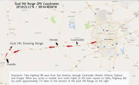 Uvalde Texas Map Goat Hill Shooting Sports Range