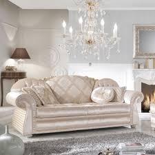 canapé romantique canapé classique 3 places en tissu fait en italie