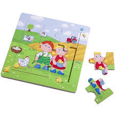 Haba Bad Rodach Haba Holzrahmen Puzzle Paul U0026 Marie 5579 Babymarkt De