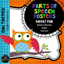 themed posters grammar parts of speech posters owl theme classroom decor by