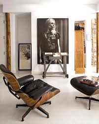 Black And White Chair And Ottoman Design Ideas Eames Lounge Chair And Ottoman By Herman Miller Madrid Bohemian