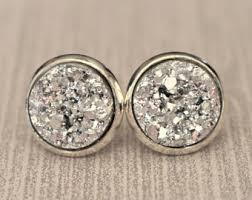 silver stud earrings silver stud earrings etsy