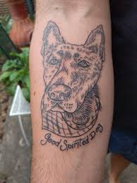 pen tattoo last first tattoo my dog carlton who passed away last january done by