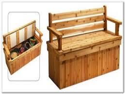outdoor deck storage bench plans decks home decorating ideas