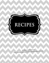 editable recipe binder printable grey black recipe sheet