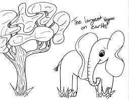 elephant love coloring page coloring pages of an elephant and a tree for kids coloring point