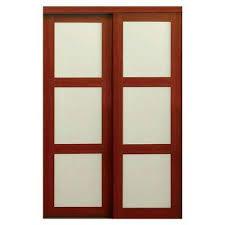 Tempered Glass Closet Doors 48 X 80 Composite 3 Panel Sliding Doors Interior Closet