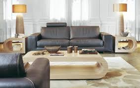 canapé en cuir contemporain roche bobois canapé salon roche bobois élégance en beige et marron