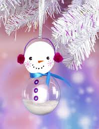 snowman glass bulb ornament project by decoart