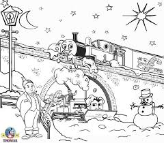 printable christmas coloring pages kids snowmen thomas train