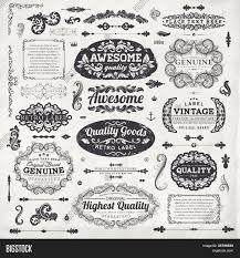Vintage Ornaments by Retro Elements For Calligraphic Designs Vintage Ornaments