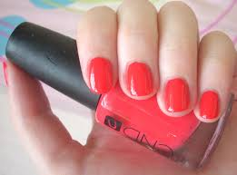 best coral nail polish through the looking glass