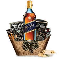 scotch gift basket send a johnnie walker blue label gift basket online whisky gift