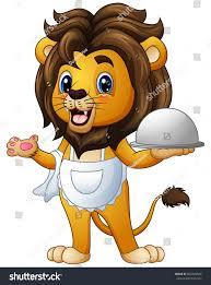 vector illustration funny lion chef cartoon stock vector 602878580