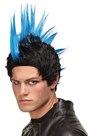 union jack halloween costume punk rocker wig wigs by unique