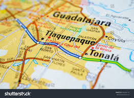 Mexico On Map Guadalajara On A Map
