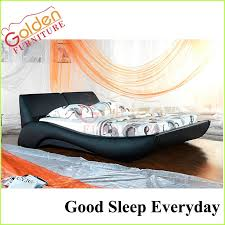 Black Leather Sleigh Bed Modern Black Leather Bed King Size Sleigh Bed Buy Sleigh Bed