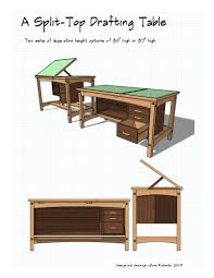 Plans For Drafting Table How Much Wood Will It Take Finewoodworking