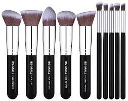 10 piece bs mall premium synthetic kabuki makeup brush set