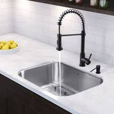 black faucet with stainless steel sink black bronze kitchen faucets with stainless steel sink in the