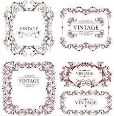 vintage ornamental frames 8 ai format free vector