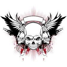 ist three skull wings free images at clker com vector clip