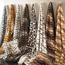 Cheetah Print Blanket Faux Fur Animal Print Blanket Bedding Brylanehome