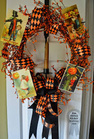 Halloween Kitchen Decor Blue Ribbon Kitchen Halloween Postcard Wreath