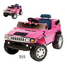 Girls Ride On Pink Hummer Car Electric 6 V Power Motorized Suv Toys