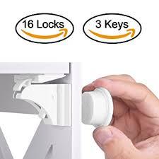 Concealed Cabinet Locks Amazon Com Baby Safety Magnetic Cabinet Lock Set Hurrise Child