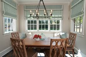 breakfast nook window treatment ideas dining room traditional with