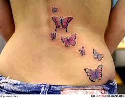 Butterflies Tattoos On - butterflies on a s back pretty tattoos
