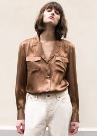 brown blouse tops the frankie shop