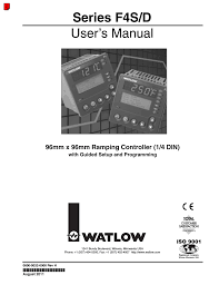 watlow series f4s d user manual 152 pages