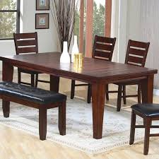 espresso dining table with leaf coaster imperial dining table with 18 leaf extension in rustic oak