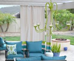 Outdoor Chandelier Diy Diy Outdoor Chandelier How To Make A Candle Chandelier