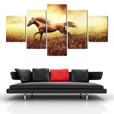 online get cheap chinese horse painting aliexpress com alibaba fallout paintings 2017 new 5 pieces drop shipping painting home decoration wall art chinese running horse