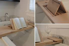 bathroom caddy ideas finished diy bathtub caddy autostraddle