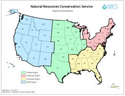 Color Map Of The United States by Regional Conservationists Nrcs