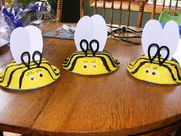 bumblebee hats paint a paper bowl yellow and add black stripes