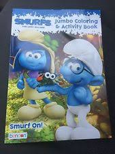 smurfs lost village jumbo coloring activity book ebay