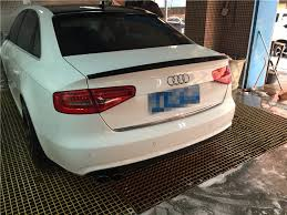 audi a4 spoiler for audi a4 spoiler high quality abs material car rear wing primer